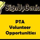 Sign Up Genius PTA Volunteer Opportunities