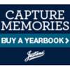 Capture Memories Buy a Yearbook Blue Logo Jostens