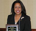 LaEunice Brown with an Award