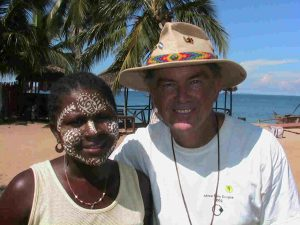 Dr. Hitt and local person in Africa