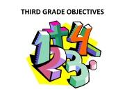 Third Grade Objectives