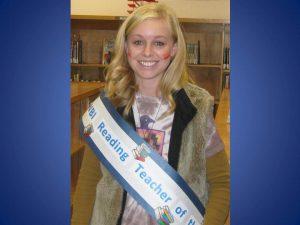 Mrs. Everett Reading teacher of the year