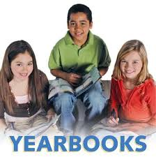 Yearbooks: three students smiling for camera