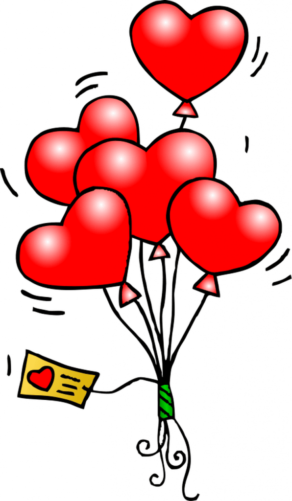 Heart Balloons with heart tag