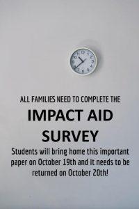 Impact Aid Cards Go Home