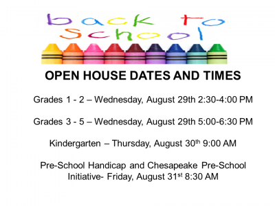 "alt=""open house dates and times per grade level"""