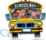 School Bus with students