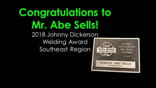 Abe Sells wins Welding Award