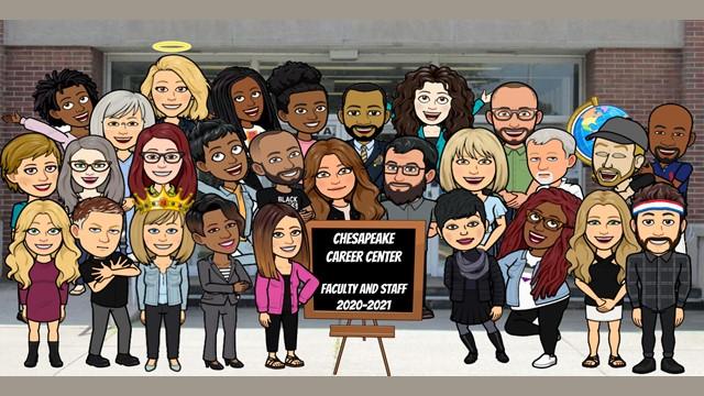 CCC Staff Photo in Bitmoji format