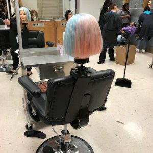 Colored hair from cosmetology class