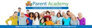 Group of people under Parent Banner