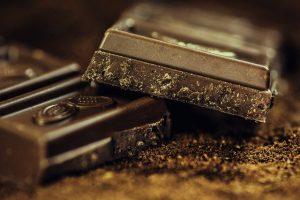Close up photo of dark chocolate