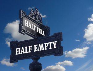 Street sign Half Full, Half Empty