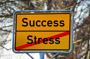 """street sign that says """"stress success"""""""