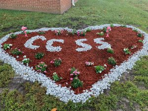 Beautiful heart shaped CCSS flowerbed