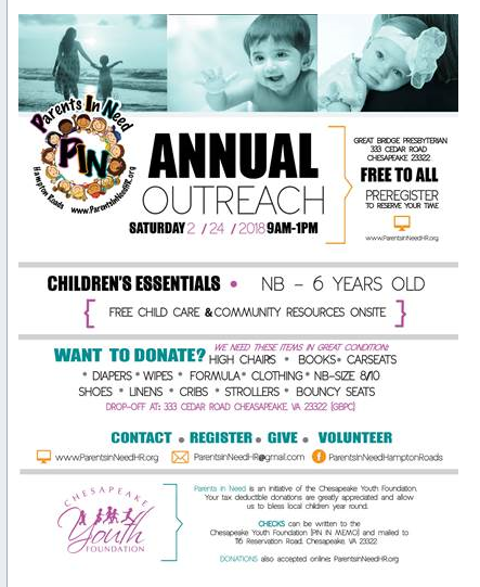 Parents In Need Flyer