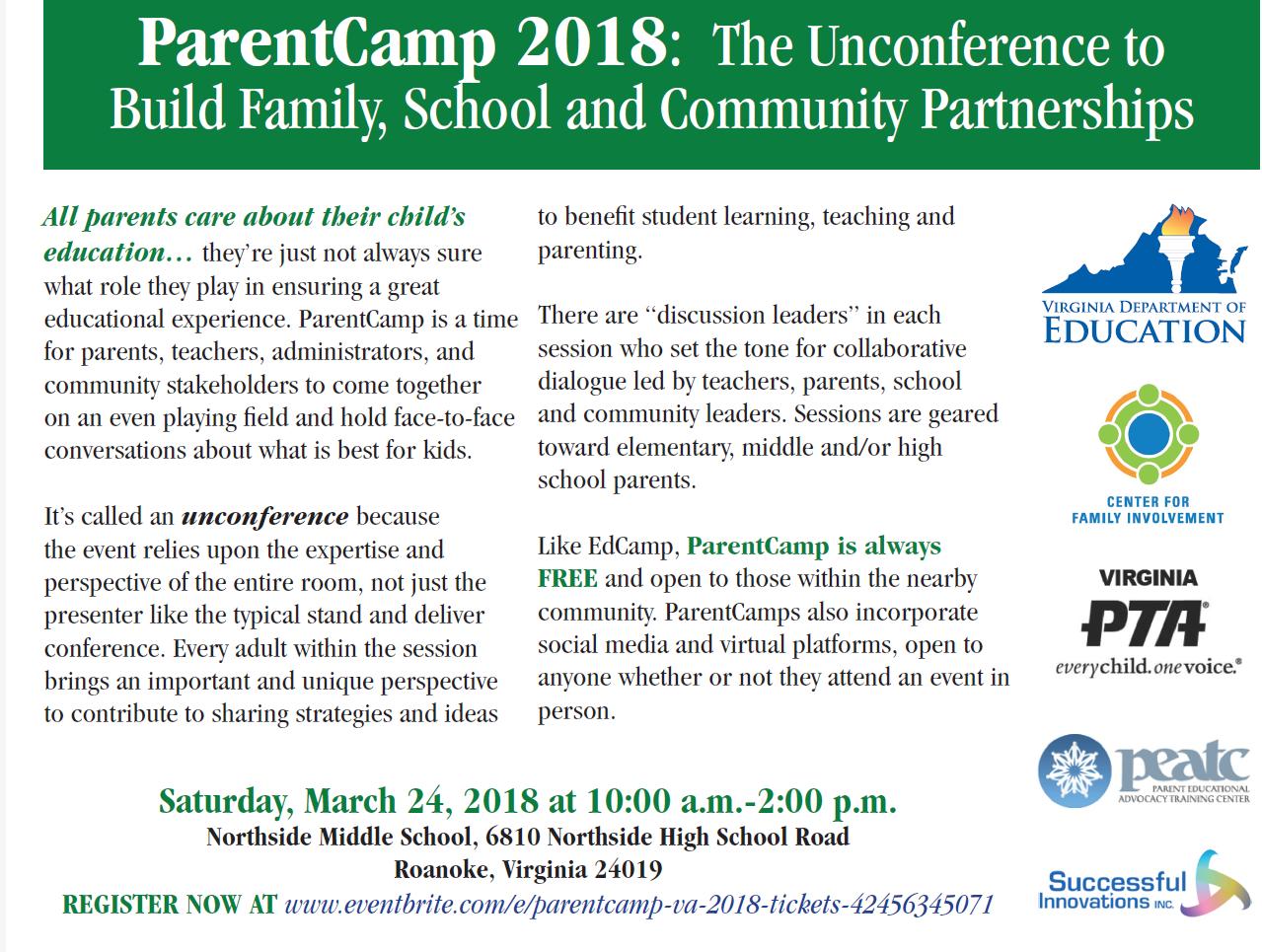 Parent Camp 2018