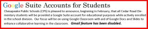Google Suite Accounts at CRE 2018