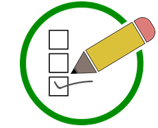 pencil checking a box
