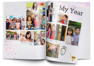 Yearbook with student pictures