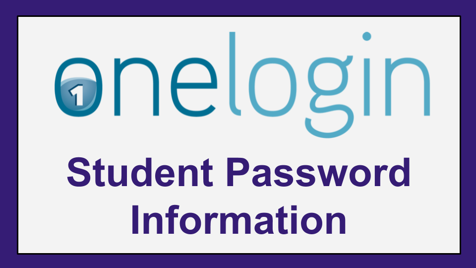 One Login Student Password Information