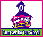 Box tops education logo. Earn cash for our school!