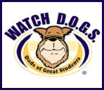 image of dog. watchdogs logo. Dads of Great Students