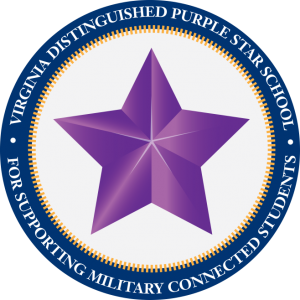military purple star logo