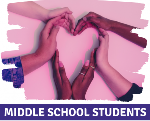 hands forming a heart - Middle School Students