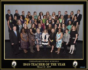 Chesapeake Public Schools - 2019 Teacher of the Year. March 14, 2019.