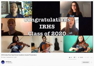 Zoom Photo Mosaic of IRHS Student Musicians 2020