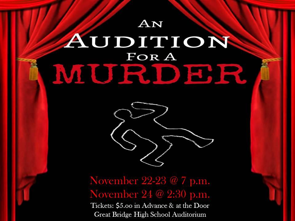 Fall Theater Production @ Great Bridge High School Auditorium