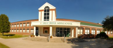 Picture of Great Bridge Middle School Main Entrance