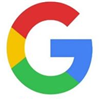 Google symbol which is a G with red, yellow, green, and blue in it