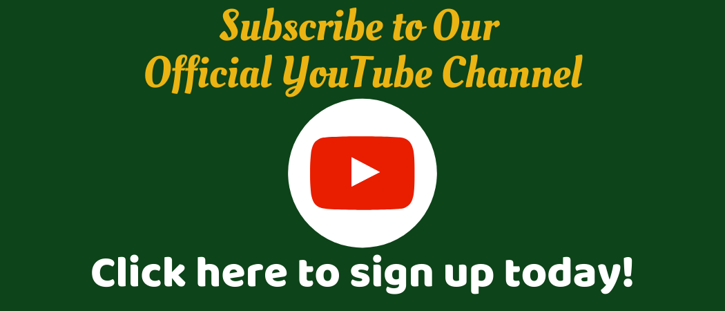 Subscribe to our official YouTube channel. Click here to sign up today! White circle read square with white triangle in the center. YouTube's logo