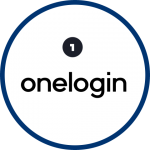 onelogin with the number one and blue circle outline