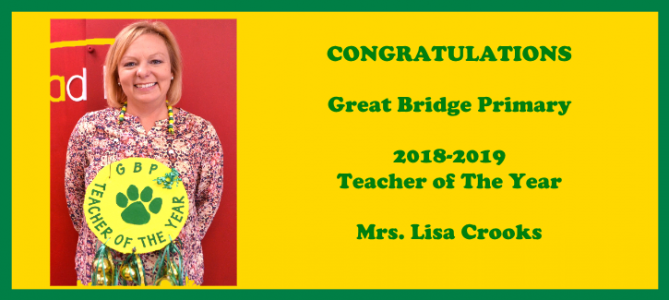 Lisa Crooks - Teacher of the Year