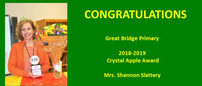 Shannon Slattery - Crystal Apple Award