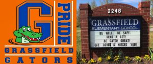 GFE Grassfield Gators Grassfield Elementary School Be well. Be Safe. Read A Lot! Be Gator Great! GFE Loves and Misses you!