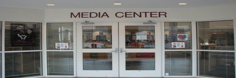 Media center front doorway banner