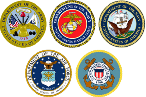 armed forces logos for military purple star designation