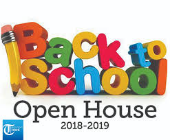 back to school open house 2018 2019