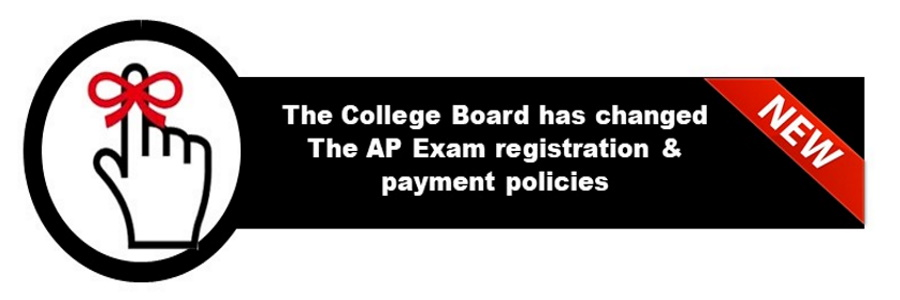 college board banner--the ap exam and registration has changed. please see the attached link