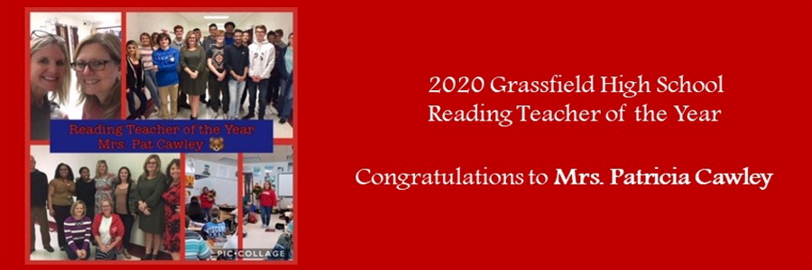 2019 grassfield high school reading teacher of the year patricia cawley