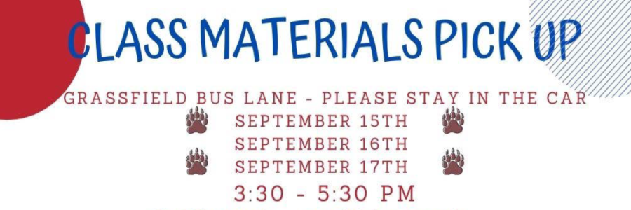 materials pickup at grassfield high school