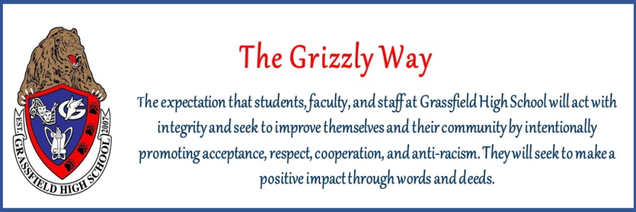The Grizzly Way motto and new student acceptance statement