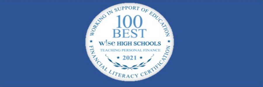 Wise Financial Litereacy banner 2021working in support of education Certification banner