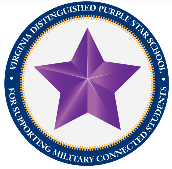 Virginia Distinguished Purple Star School - For Supporting Military Connected Students