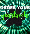 green tye-dye Yearbook ad that says order your yearbook