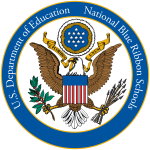 US Department of Education National Blue Ribbon Schools Eagle with American Flag